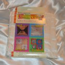 Daisy Kingdom Connect-it No-Sew Reversible Craft Squares White Satin Button Hole