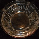 KIG Crystal Glass Rose Patterned Ashtray Candy Dish Indonesia Solid