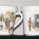 * RARE 1898 WHITE Benz 2 CROWN STAFFORDSHIRE Cup Mug 1901 Fiat SUPER