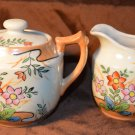 Vintage Hand Painted in Japan - Delicate style Flowers Cream & Sugar Set
