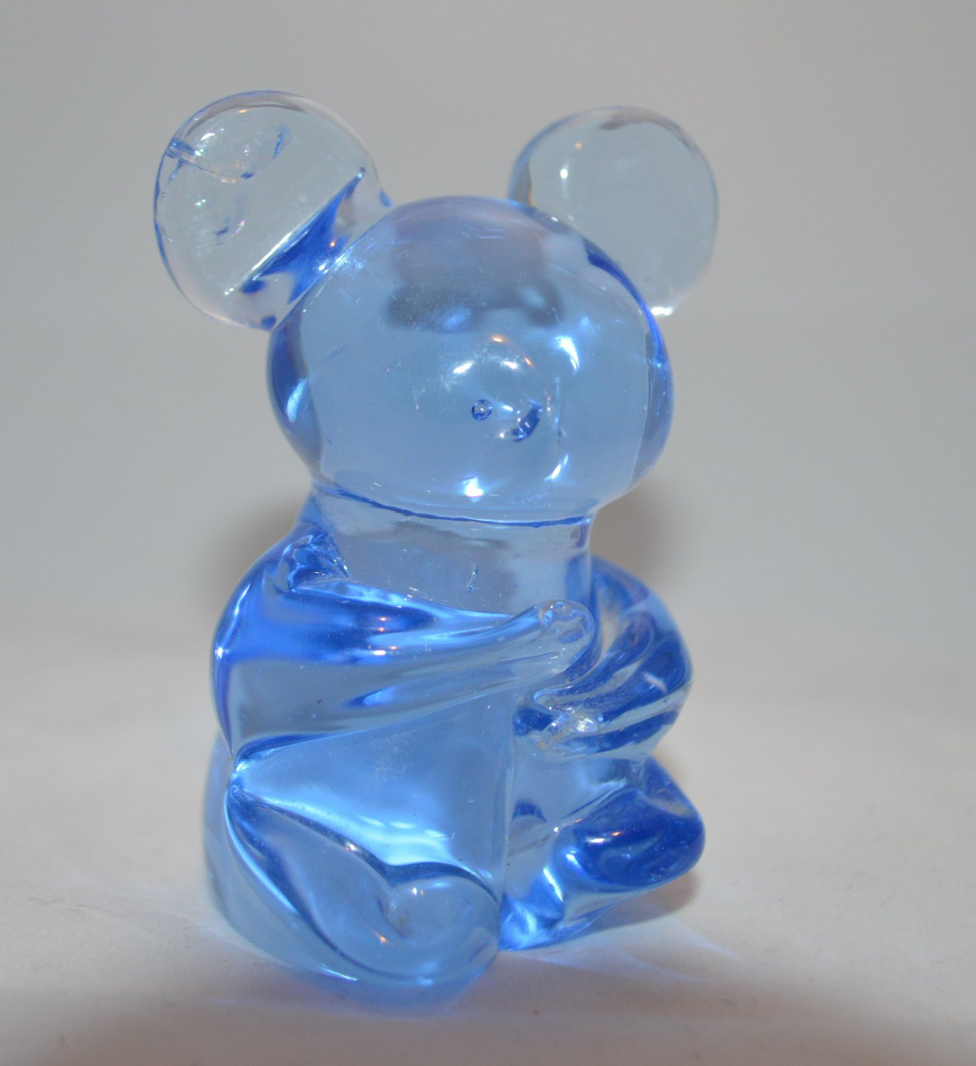 Titan Art Blue Glass Bear - iridescent Blue - Figurine Bear - Koala Panda