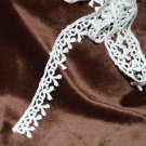 "White Bow or Ribbon Lacey  Trim to Sew 62"""" x 5/8"""