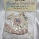 "Country Original Pre-Painted 2.5"" x 3""  2 Rocking Horses Craft Miniature"