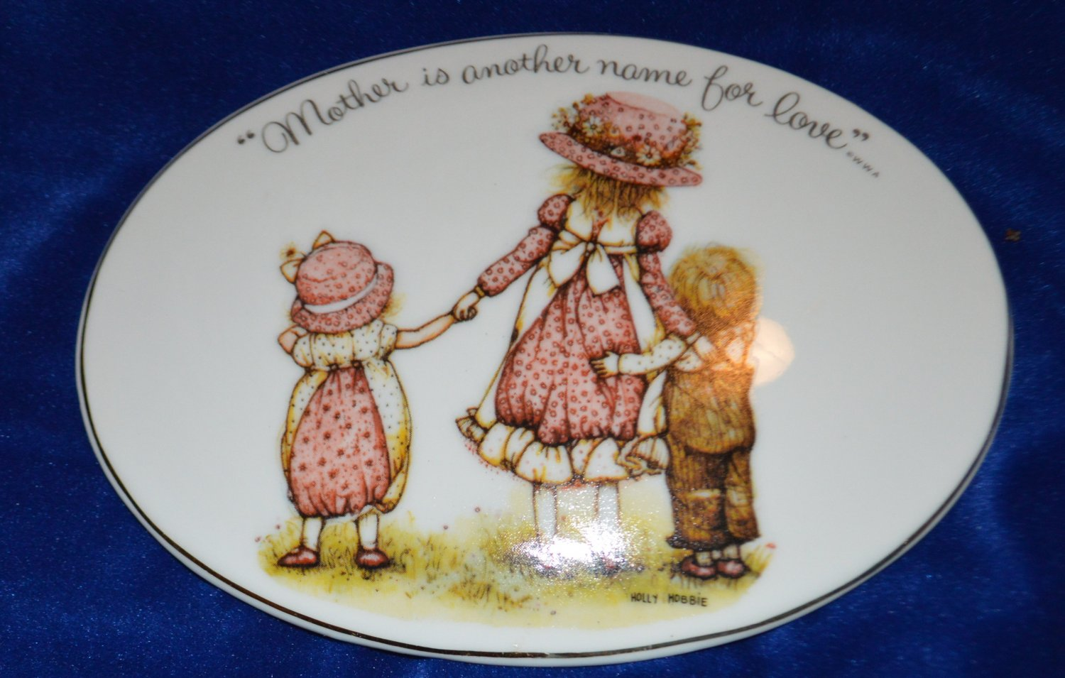 """"""" Mother is another name for Love """" ...  Oval Plaque Holly Hobbie Mother's Day"""