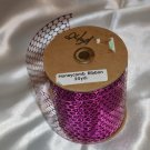 "Honeycomb Foil Metallic Pale Purple Ribbon 3 1/2"" by 24 Yards"