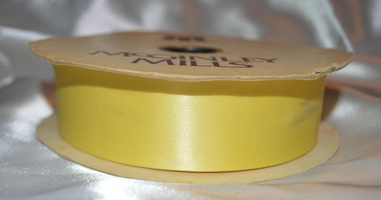 McGinley Mills #210 Yellow Satin Ribbon Assorted sizes
