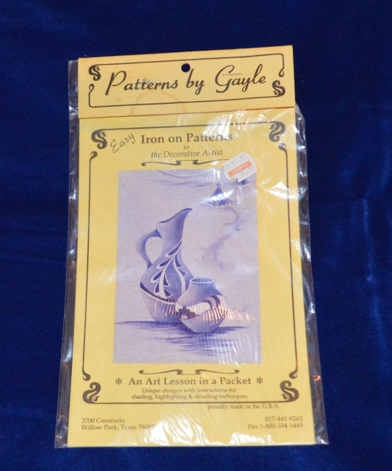 Patterns by Gayle Iron on Western Pottery for Decorative Artist