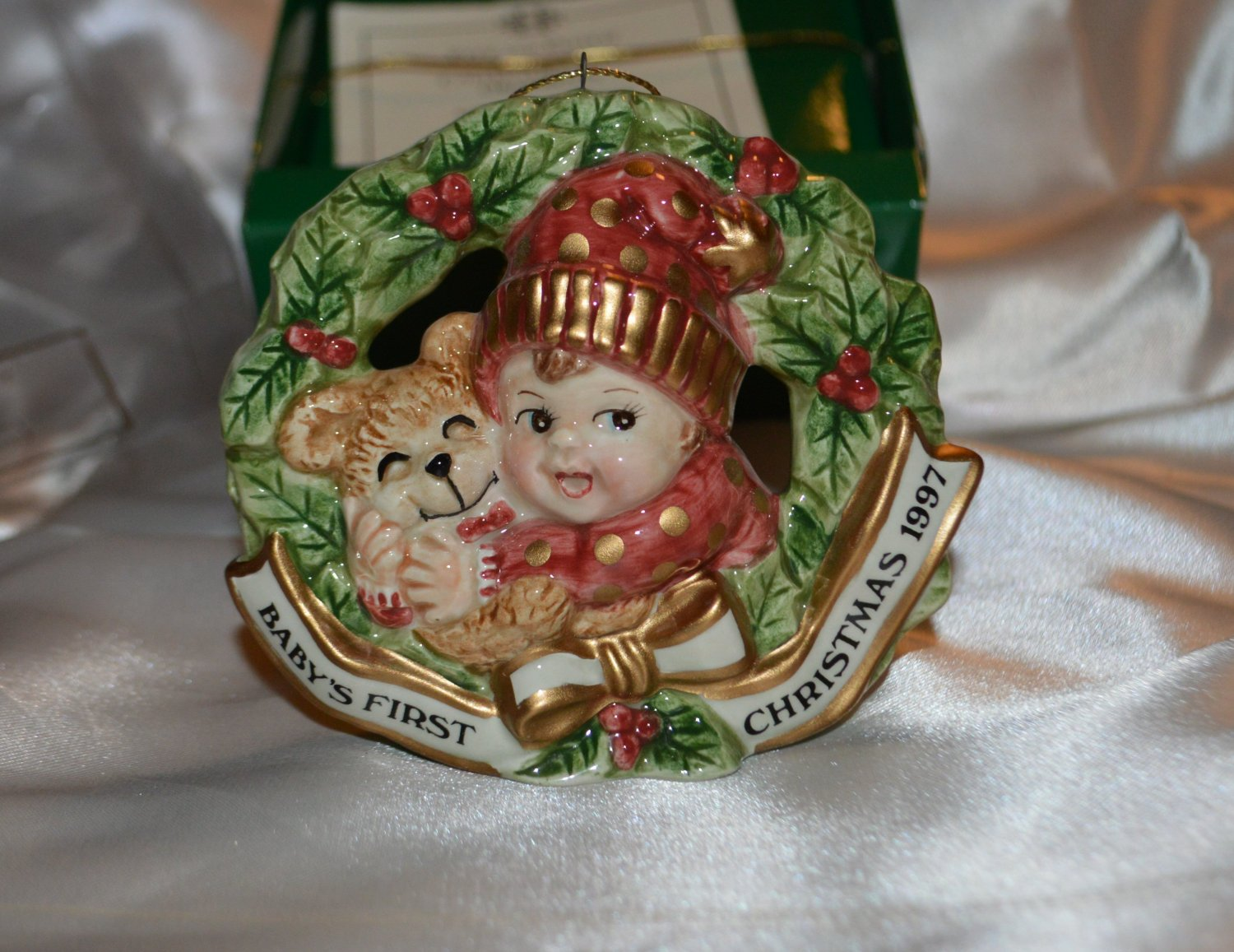 Fitz & Floyd Christmas Ornament Baby's first Christmas
