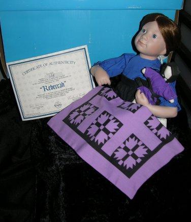 * Amish Porcelain Doll Rebeccah Kruger Knowles #38s 1991