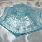 Aqua Blue Textured Glass Candleholder Candle Holder