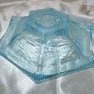 Aqua Blue Textured Glass Candleholder Candle Holder