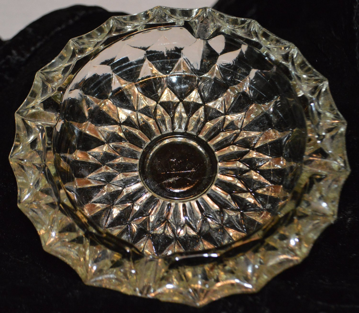 GW Crystal Glass Ash Tray - Other uses Nuts, Candy Trinkets Keys