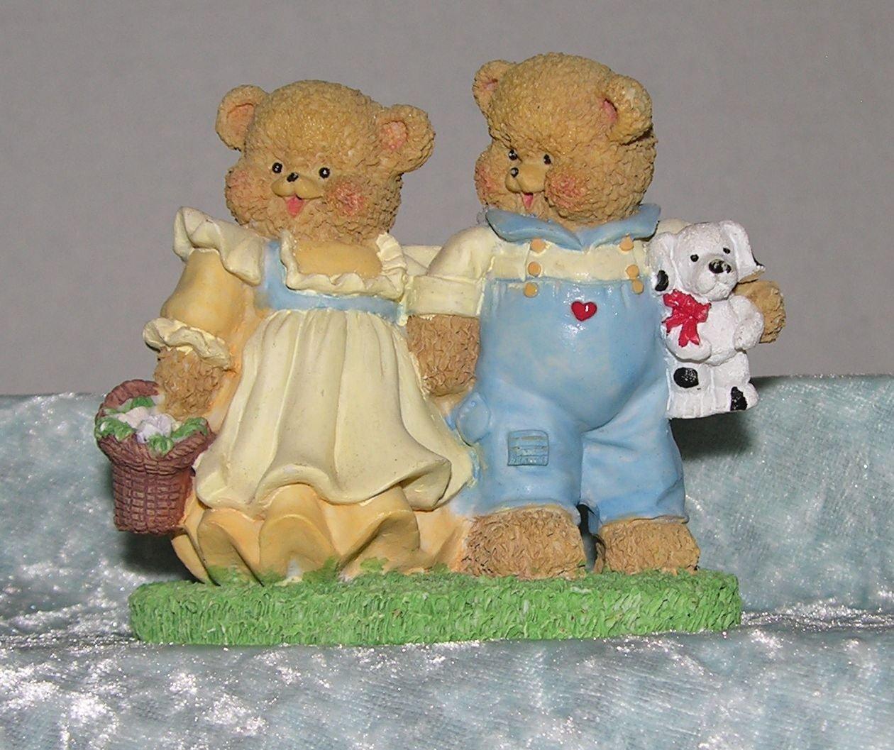 Love Bear Pair - Spring Easter Adorable display Bear Collector delight