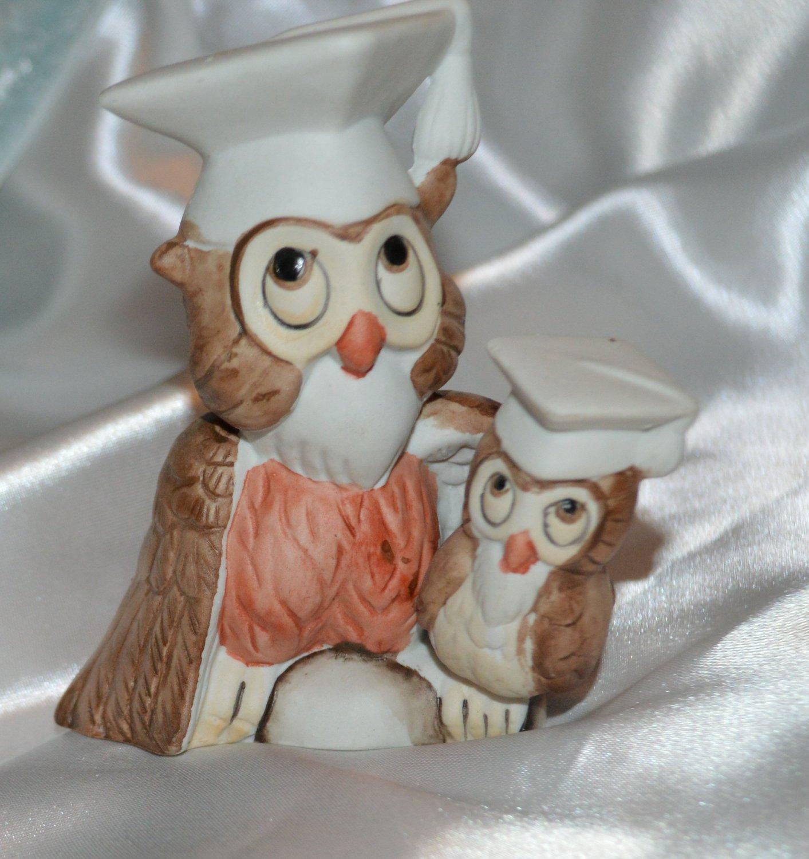 Porcelain Ceramic Owl Figurine Graduates - Congratulations Graduate