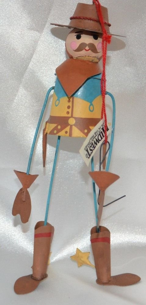 MIDWEST OF CANNON FALLS Metal Cowboy Christmas Ornament