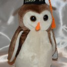 GRADUATION Graduate 1998 Ty Beanie Baby Wise Owls Mint