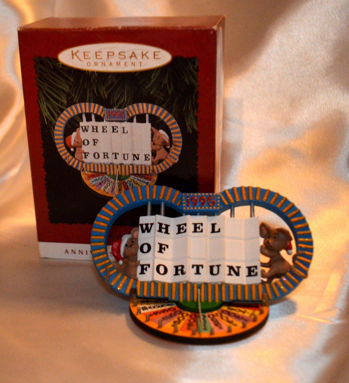 Hallmark Keepsake Wheel of Fortune Keepsake Ornament 1995