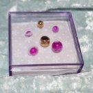 Purple Crystal Gold - Purple Rings & Swirl Acrylic Belly Ring Navel Pierce