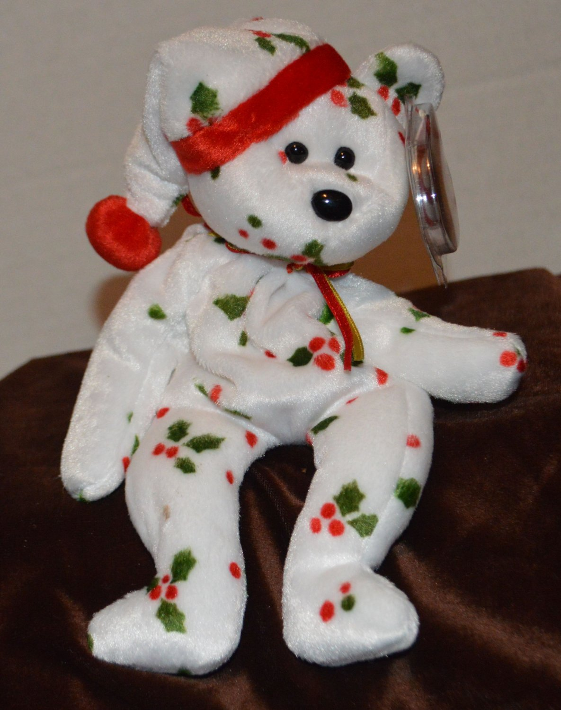 Ty Beanie Baby Happy Holiday Christmas Bear tush tag 1998 swing tag 1998