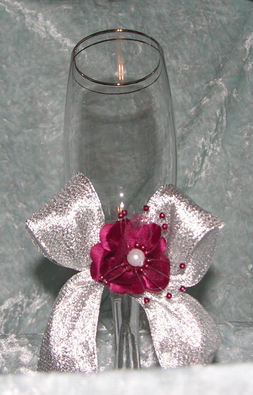 Decorated Delicate Glass Stemware -Wine glass goblet - Champagne Glass