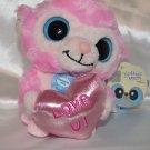 YooHoo & Friends Super Soft Valentine Light Pink Monkey Kissing Sound