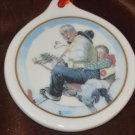 Porcelain Christmas Ornament Gramps at the Reins Norman Rockwell