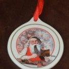Porcelain Christmas Ornament Santa's Children Norman Rockwell