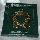 Gloria Duchin 24 k Gold Wreath Christmas Tree Ornament & Angel Pin