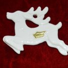 Ryme's China White Reindeer Christmas Tree Ornament or Decoration
