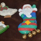 Assortment of 4 Christmas Magnets Santa Goose Horse