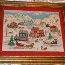 Deck the Walls Framed Fabric Picture Christmas Holiday Themed 31 1/2 x 27 1/2 in