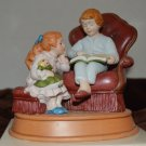 Avon Christmas Memories Enjoying the Night Before Christmas Figurine 1983