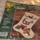 Bucilla 32420 Santa & Teddies Stocking Counted Cross Stitch DIY