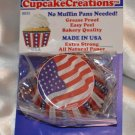 "32 pack 2"" Cupcake Creations Baking cups No Pan needed Red White Blue & Stars"