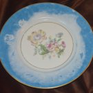 Rare Richard Ginori Blue Washed Decorative Flower Plate Italy