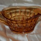 Indiana Amber Glass Thumb Print Design Gray or Creamer Pitcher
