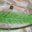 House & Best Green Stained Glass Condiment Tray Plate