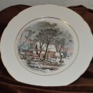 Avon Winter Grist Decorative or Dessert Plate Dish 1977