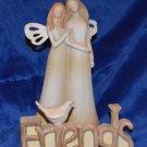 Resin Wood Carved looking Friends Figurine