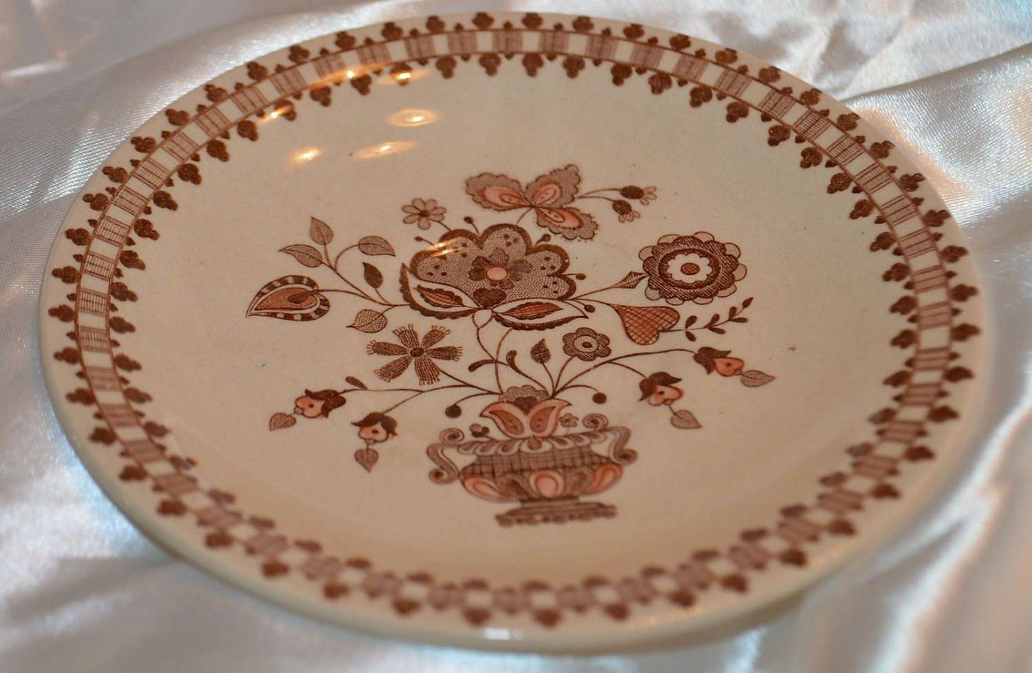 Johnson Brothers Old Granite Staffordshire Dessert Plate Dish Made in England