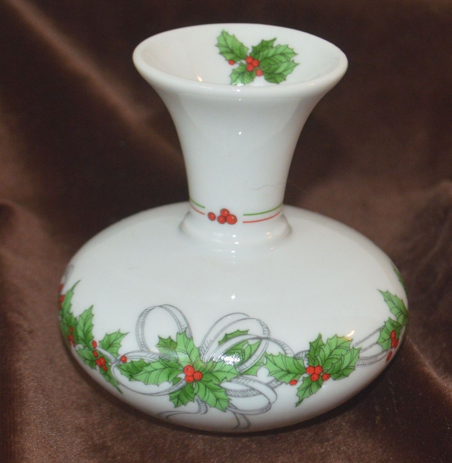Poinsettia Small Christmas Decoration Vase The Tuscany Collection