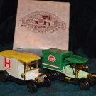 Collector's set of Classic Trucks Ambulance and Express Truck
