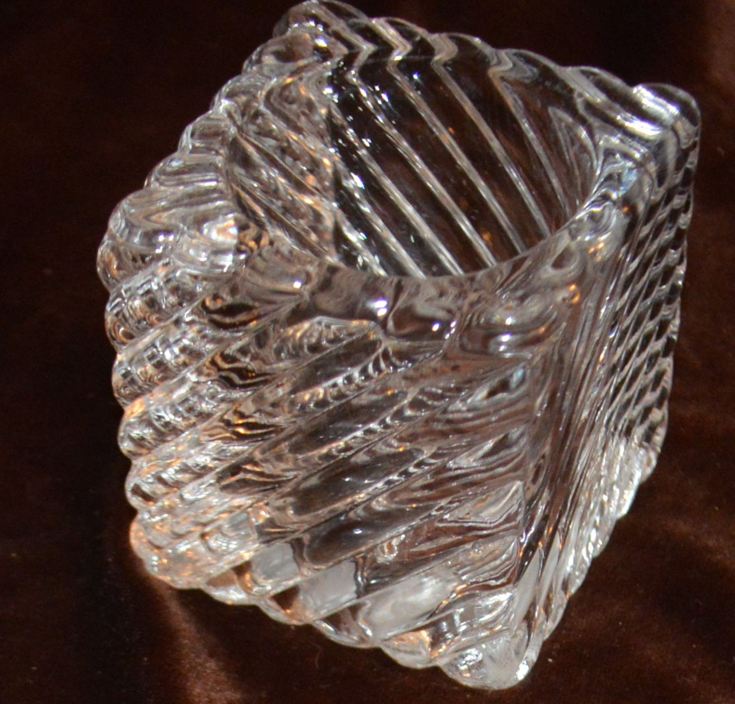 Square Swirled Glass Votive