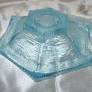 Aqua Blue Textured Glass Candleholder Candle Holder Votive