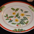 Christmas Flower Holly mistletoe American Atelier Holiday Floral Stone Dish