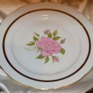 Royal Rose Czechoslovakia Bread Dessert Plate Dish Pink Rose Gold Trim