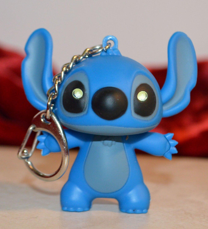Lilo & Stitch's Stitch Keychain Book Bag Charm Stocking Stuffer light up