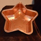 Vintage Copper Metal Anodized Aluminum Star Shaped Kitchen Mold Decor