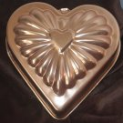 Heart Shaped Copper Cake Pan Jell-O Gelatin Mold or Kitchen Decoration
