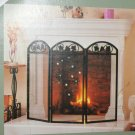 Snowman Snowflake & Crystal Sparklers Fire Screen Winter Decoration